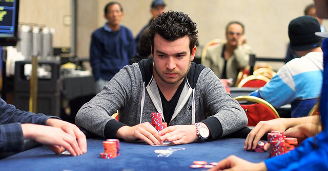Chris Moorman playing in the 2014 LAPC WPT